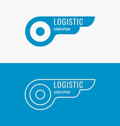 Logo for logistics company vector image
