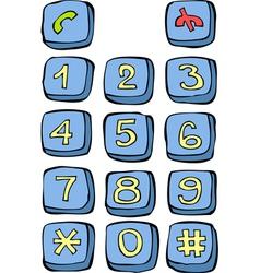 button phone vector image