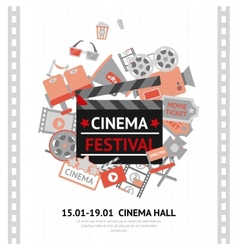 Cinema Festival Poster vector image vector image