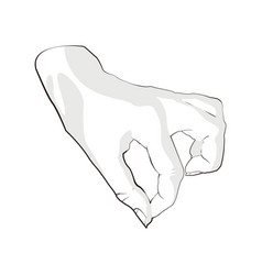hand reaching for something on white background vector image