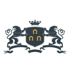 Heraldic lion18 vector image