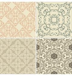 vintage floral seamless patterns vector image vector image