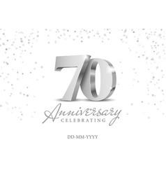 70 years anniversary celebration vector image