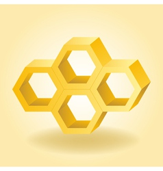 Abstract 3d honeycomb background vector