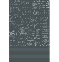 Background of white blackboard with mathematical vector