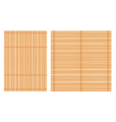bamboo mat background set vector image