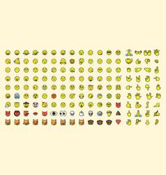big emoji set vector image