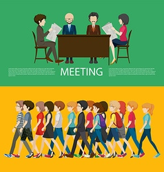 Business concept infographic with people vector image