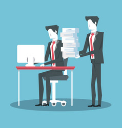 Business coworkers avatar vector