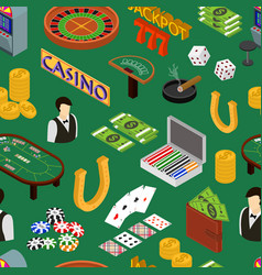 casino and gambling game background pattern vector image vector image