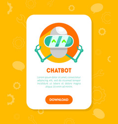 chatbot website landing page template mobile vector image