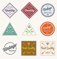 Collection of Colorful Vintage Retro Label Set of vector image