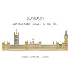 colorful london landmark 8 vector image