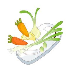 cooking ingredients vector image