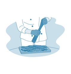 cooking professional chef restaurant concept vector image