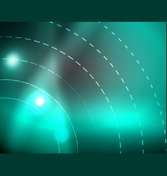 dark space with neon color glowing lights abstract vector image