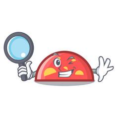 Detective semicircle character cartoon style vector