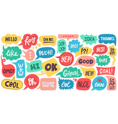 Dialogue speech bubbles chat balloons small talk vector