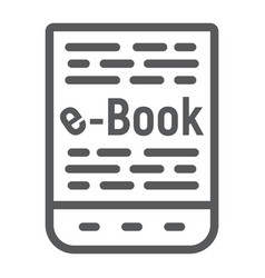 e book line icon e learning and education vector image