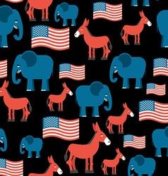 Elephant and Donkey seamless pattern Symbols of vector image