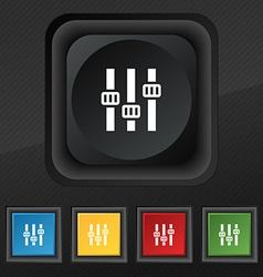 Equalizer icon symbol Set of five colorful stylish vector image