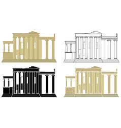 Erechtheion acropolis in greece europe vector