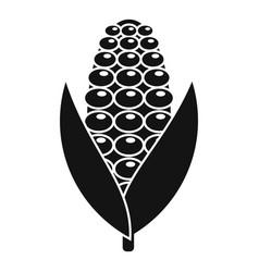 Field corn icon simple style vector