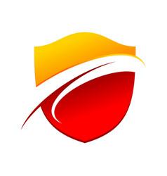 Flaming wave guard modern shield symbol logo vector