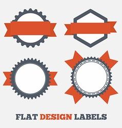 Flat design Labels vector