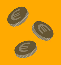 Flat icon on stylish background euro cents vector