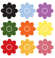 Flower icon on white background flower sign vector