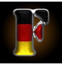 Germany metal figure f vector