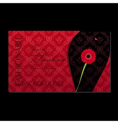 glamour fashion invitation card flower vector image