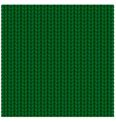 green seamless texture knitting woolen clothes vector image