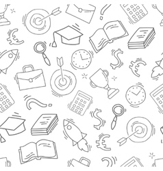 Hand drawn business seamless pattern vector image