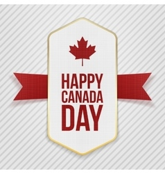 happy canada day greeting tag vector image