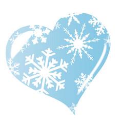 Ice heart vector