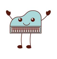 kawaii piano music instrument classic cartoon vector image