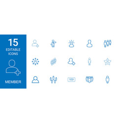member icons vector image