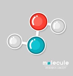 molecular structure emblem research concept vector image