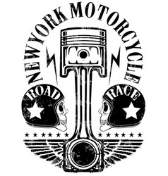 motorcycle label t-shirt design with of custom vector image