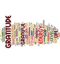 Power gratitude text background word cloud vector