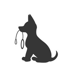 Puppy silhouette vector