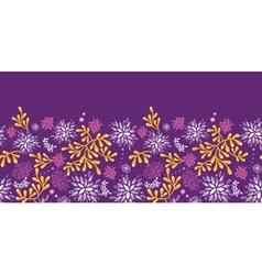 purple and gold underwater plants horizontal vector image