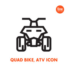 Quad bike icon all terrain vehicle atv vector