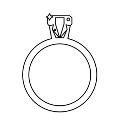 Ring jewelry luxury wedding outline vector