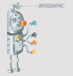 Robot infographic design eps10 vector
