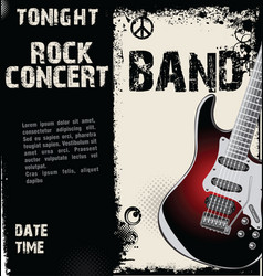 Rock concert grunge background vector