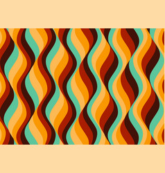 Sixties themed wallpaper design vector