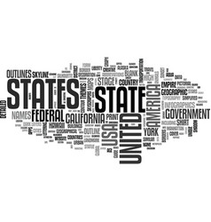 States word cloud concept vector